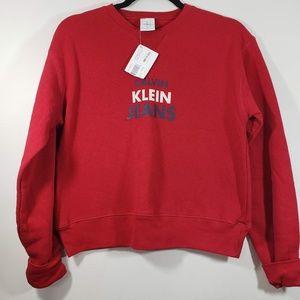 NWT Calvin Klein Jeans Girl Red Sweatshirt M